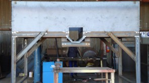 Auger Silo in our factory at different stages of manufacturing
