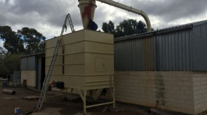 Silo on site during installation