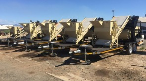 6 x Large capacity seed cleaning machines ready to be delivered to satisfied customer