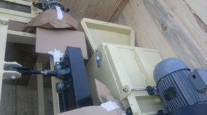 Miniture thrasher being crated in our factory for shipping to Israel