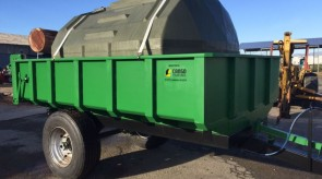6 Ton tip trailer with double hydraulic tipping cylinders (in this case 2000l watertank was added as per client instructions) to make this tip trailer more versitile